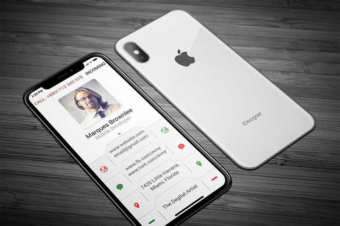 35 Vertical Business Card Mockups And Templates For Business Pertaining To Iphone Business Card Template