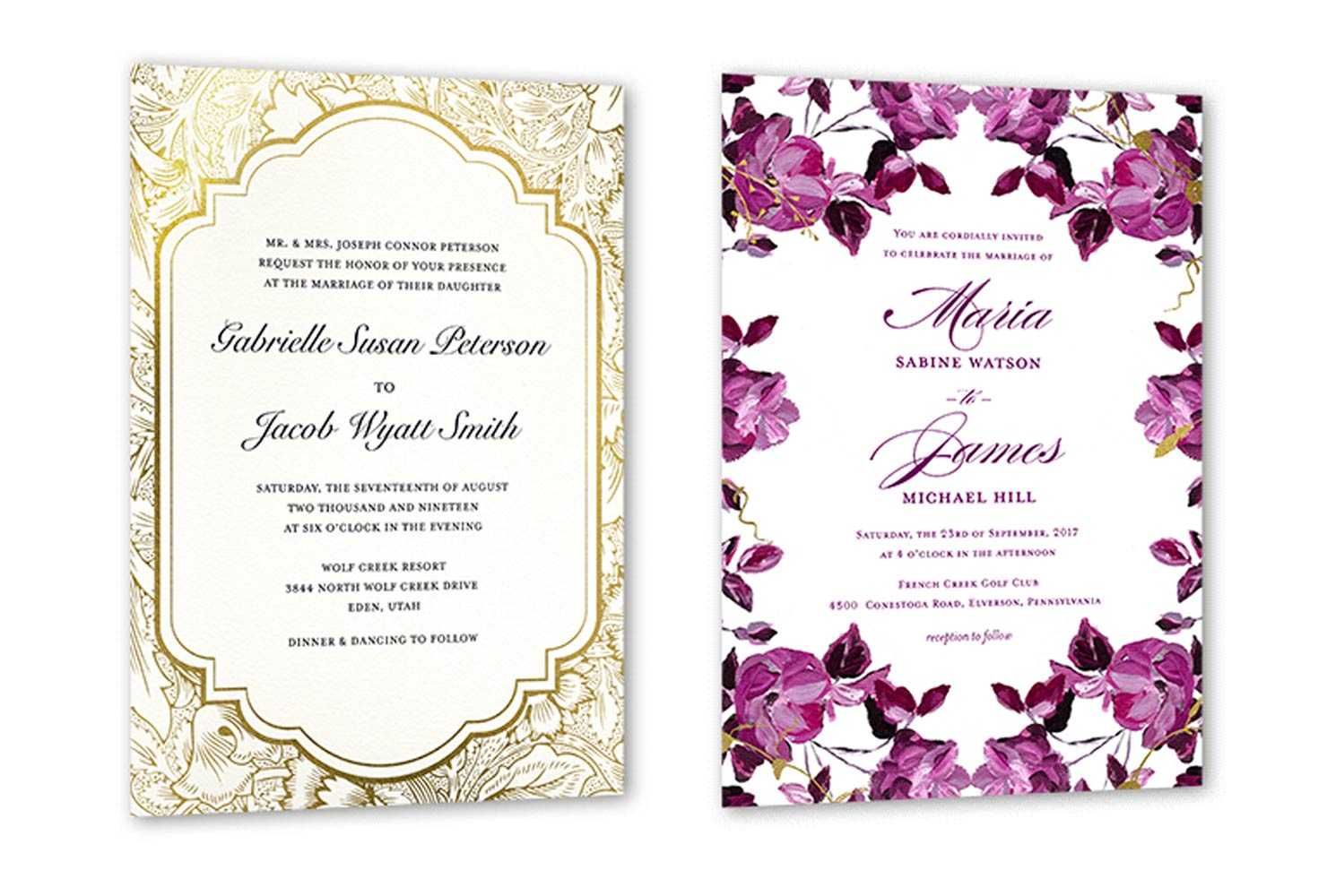 35+ Wedding Invitation Wording Examples 2020 | Shutterfly Within Sample Wedding Invitation Cards Templates
