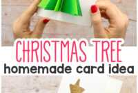 3D Christmas Tree Card – Easy Peasy And Fun pertaining to 3D Christmas Tree Card Template