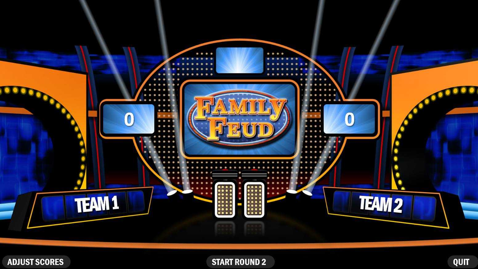 4 Best Free Family Feud Powerpoint Templates Regarding Family Feud Powerpoint Template With Sound