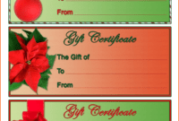 4 Christmas Gift Certificate Template Free Download | Survey regarding Free Christmas Gift Certificate Templates