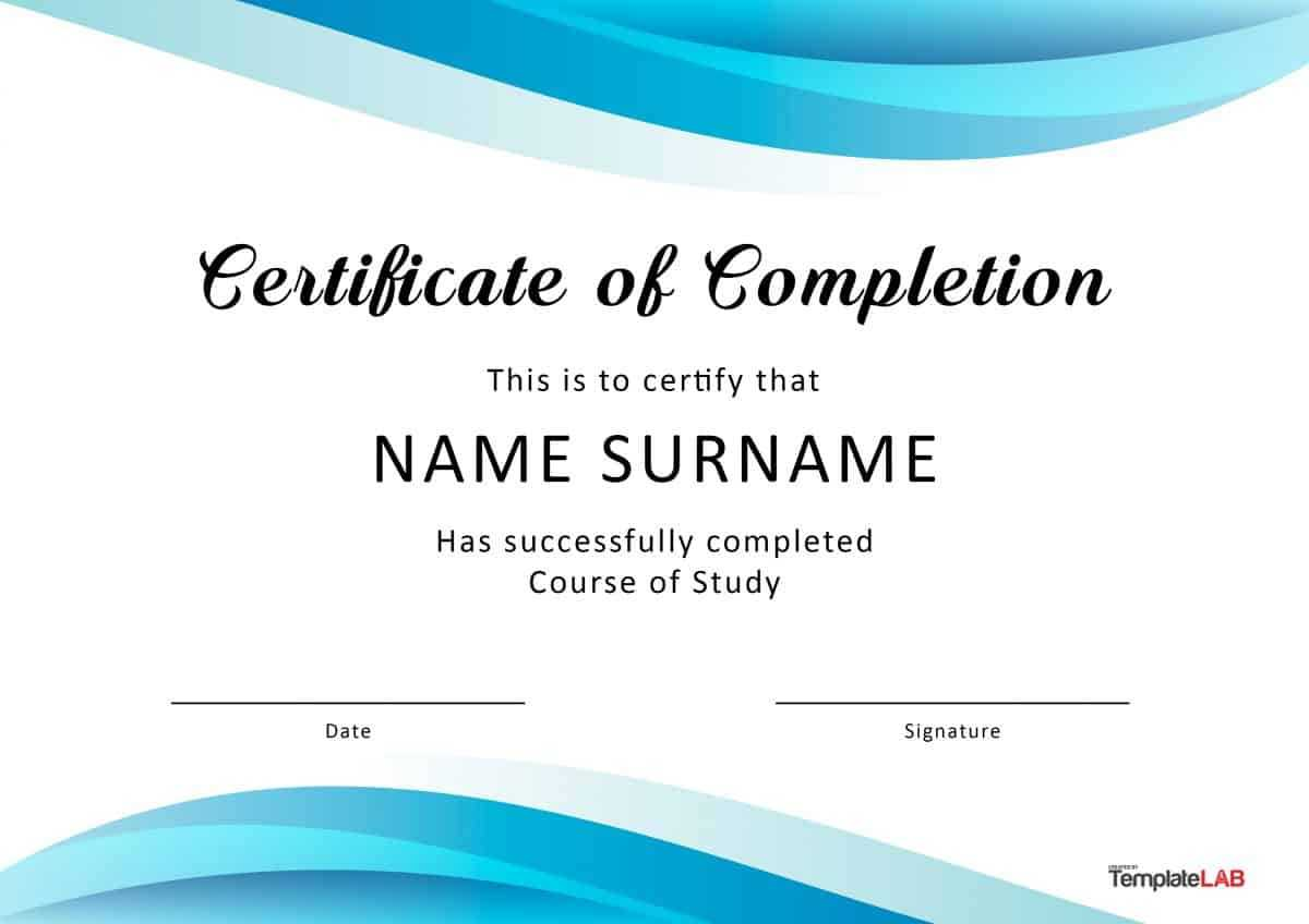 40 Fantastic Certificate Of Completion Templates [Word Inside Powerpoint Certificate Templates Free Download