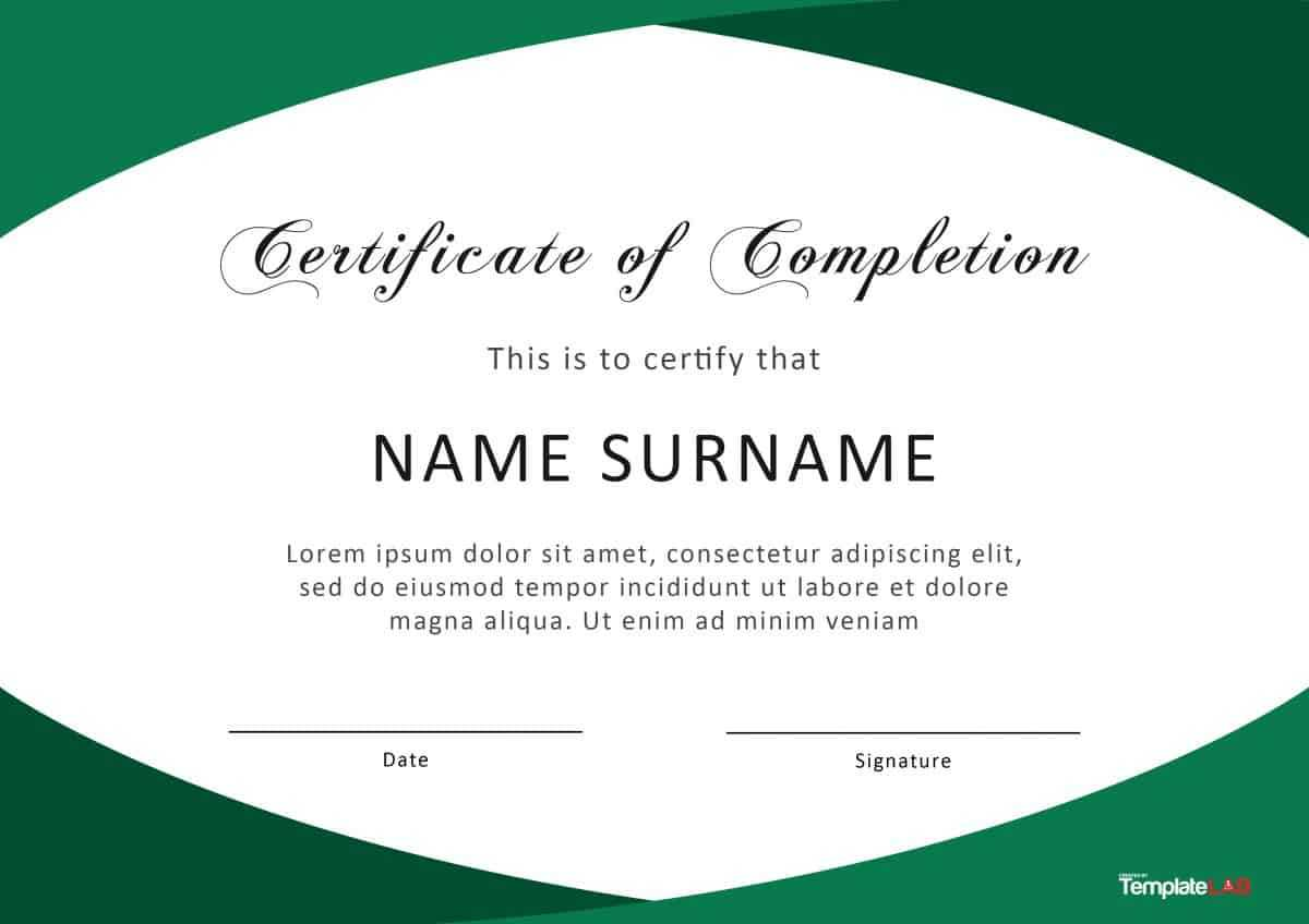 40 Fantastic Certificate Of Completion Templates [Word Intended For Microsoft Word Certificate Templates