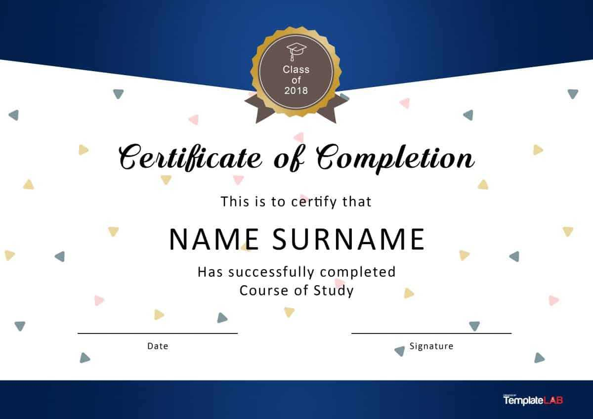 40 Fantastic Certificate Of Completion Templates [Word Regarding Blank Certificate Of Achievement Template