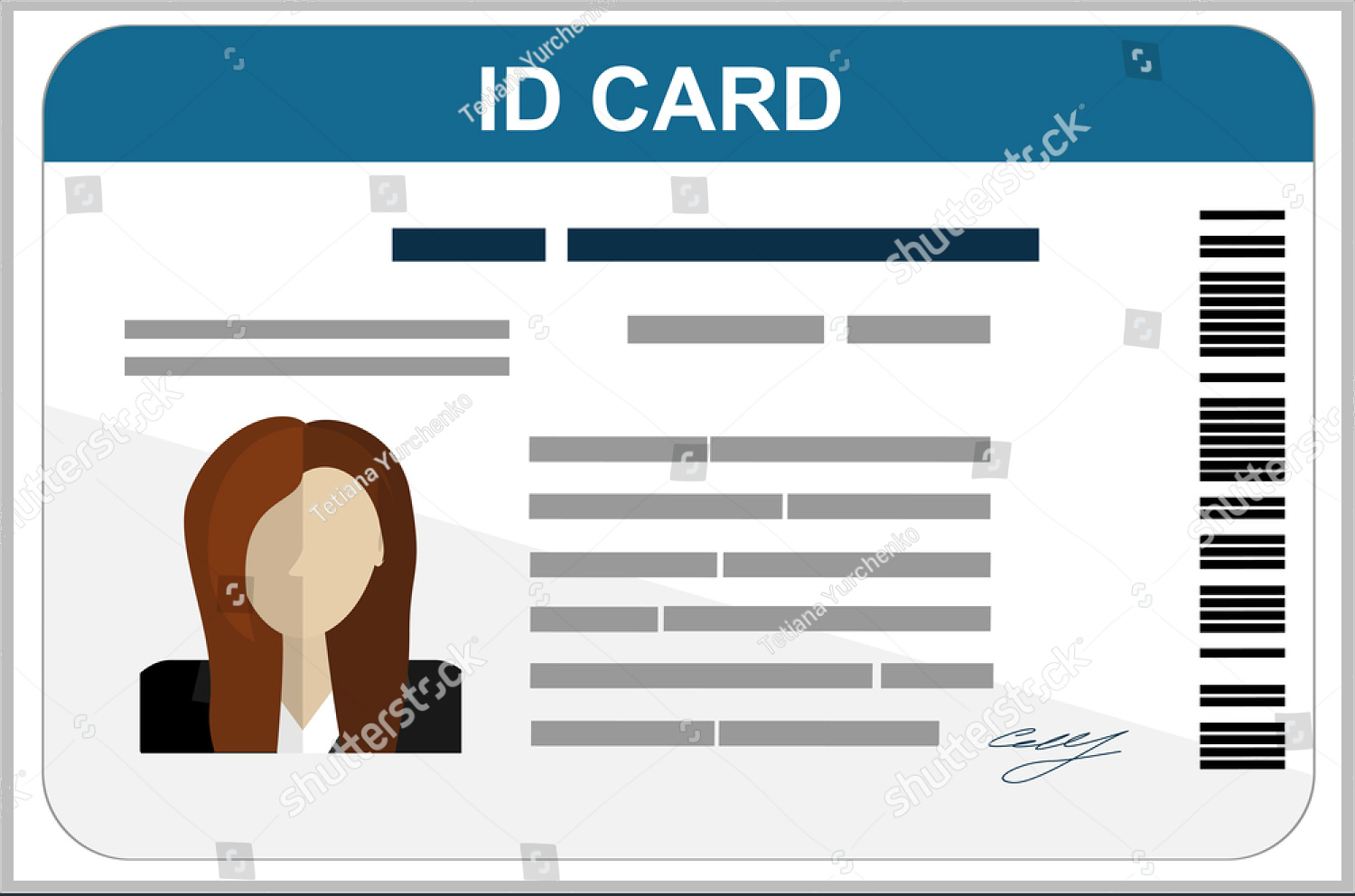 43+ Professional Id Card Designs - Psd, Eps, Ai, Word | Free For Pvc Card Template