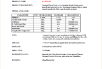 5+ Certificate Of Analysis Template | Outline Templates regarding Certificate Of Analysis Template