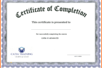 5+ Free Academic Certificate Templates   Ml-Datos for Certificate Of Completion Template Free Printable
