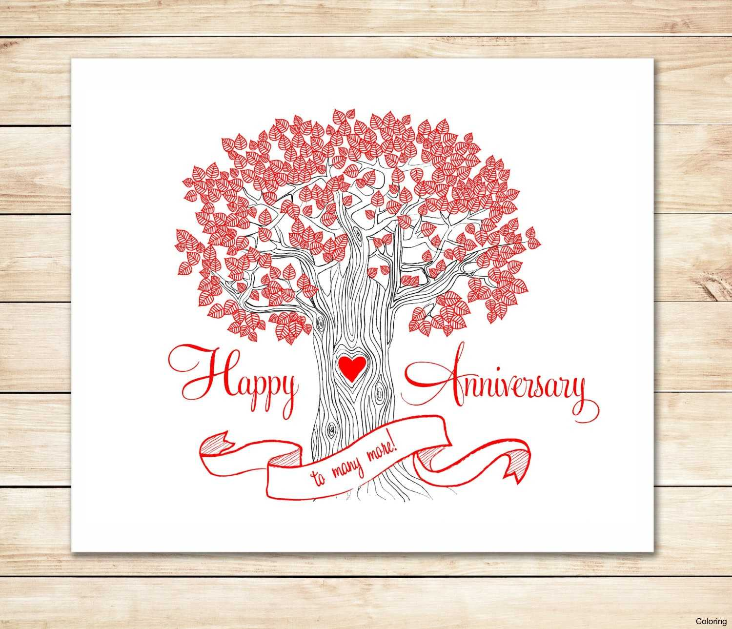 5+ Free Anniversary Card Template | Ml Datos Regarding Template For Anniversary Card