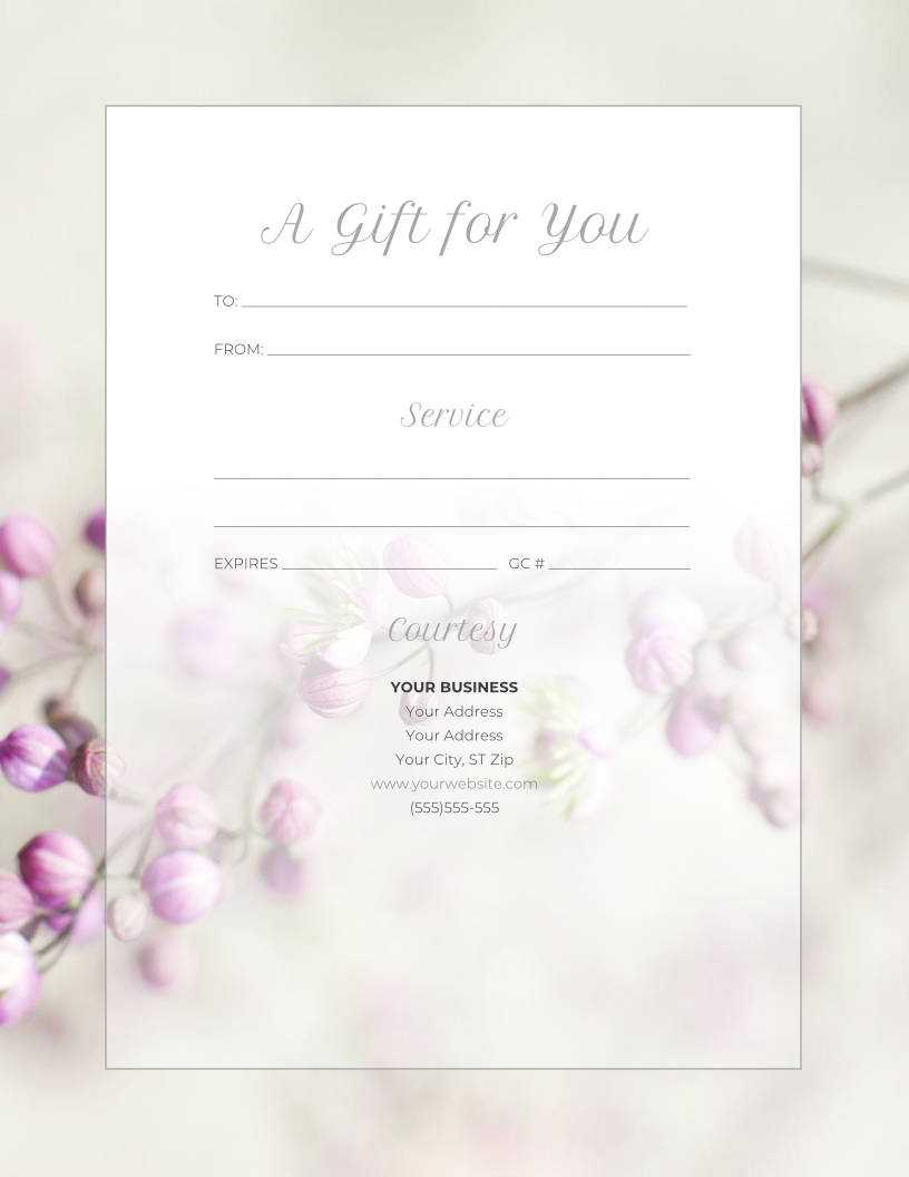 5 Ways To Make Your Gift Certificates Extra Special This With Regard To Spa Day Gift Certificate Template