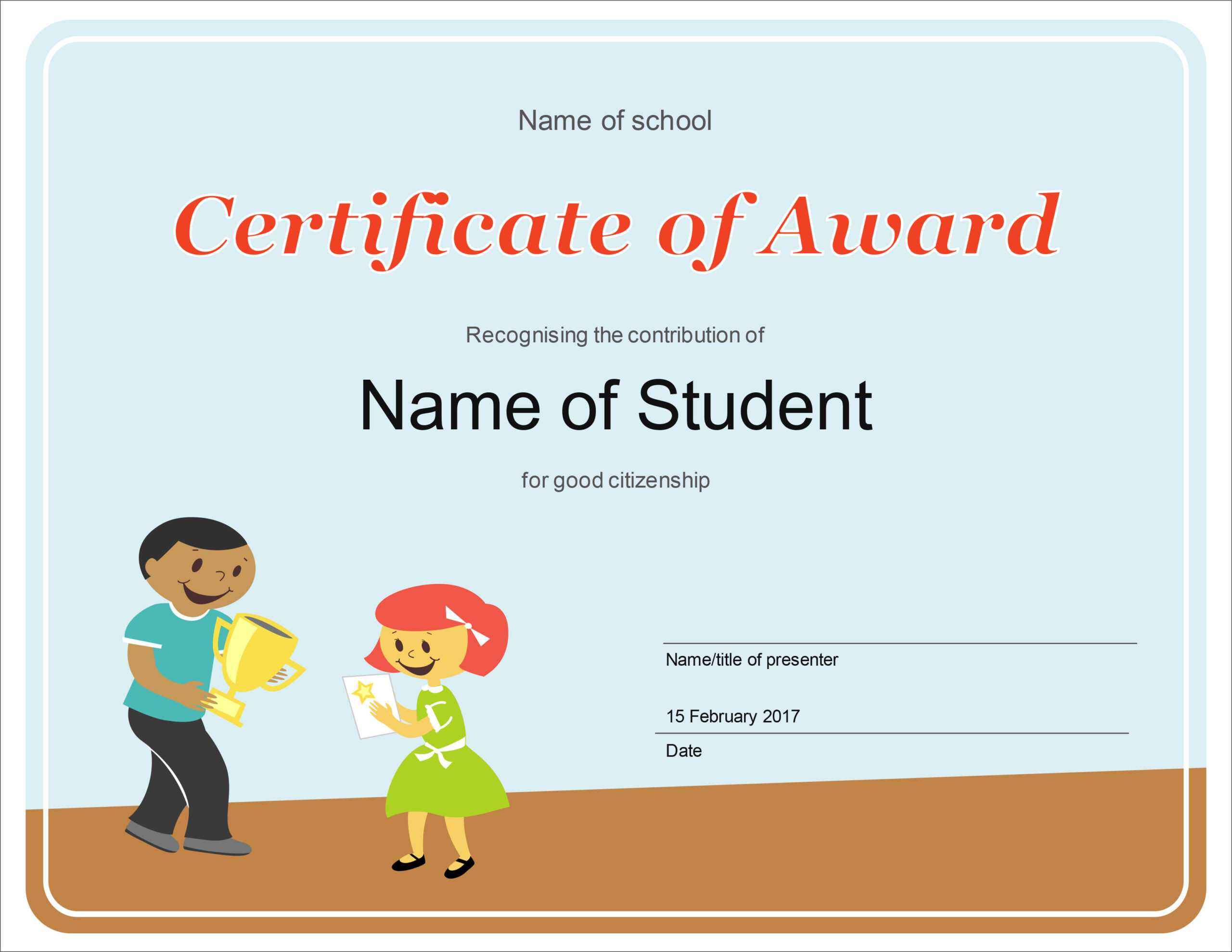 50 Free Creative Blank Certificate Templates In Psd Regarding Free School Certificate Templates