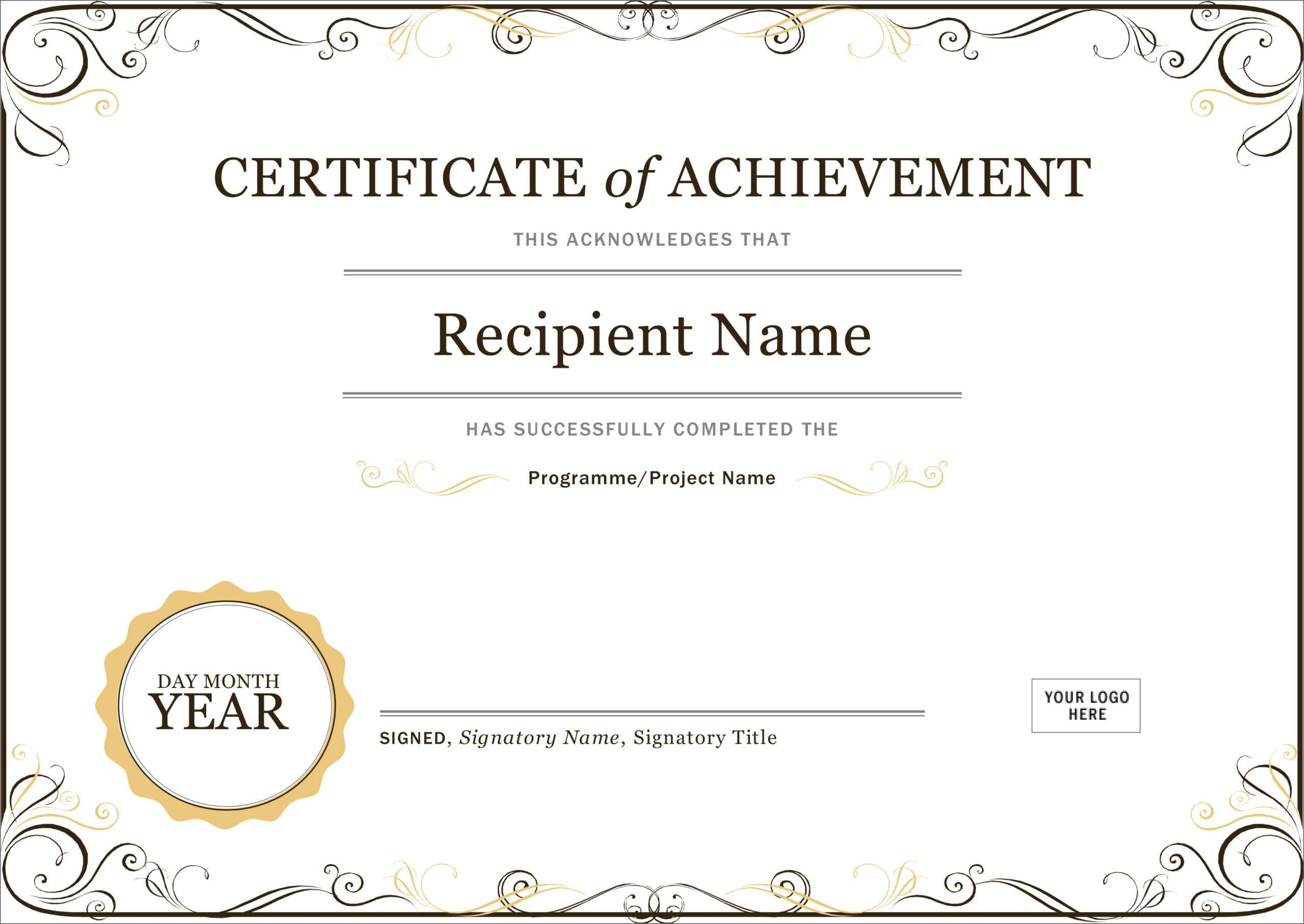 50 Free Creative Blank Certificate Templates In Psd Regarding Student Of The Year Award Certificate Templates