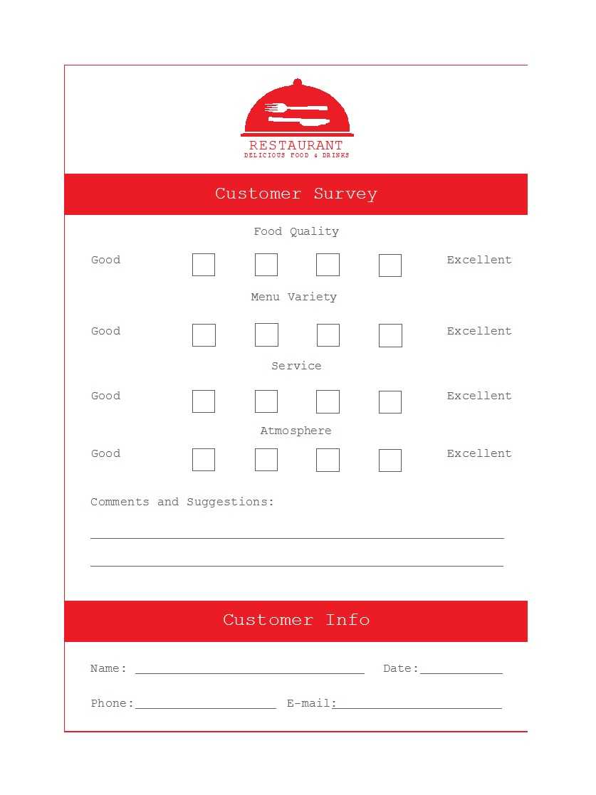 50 Printable Comment Card & Feedback Form Templates ᐅ Intended For Survey Card Template