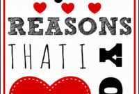 52 Reasons I Love You Template Free ] – 1000 Ideas About 52 in 52 Reasons Why I Love You Cards Templates