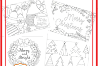 6 Unique Christmas Cards To Color Free Printable Download for Diy Christmas Card Templates