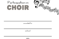 8+ Free Choir Certificate Of Participation Templates – Pdf with Certificate Of Participation Word Template