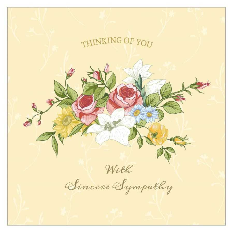 8 Free, Printable Condolence And Sympathy Cards Pertaining To Sorry For Your Loss Card Template