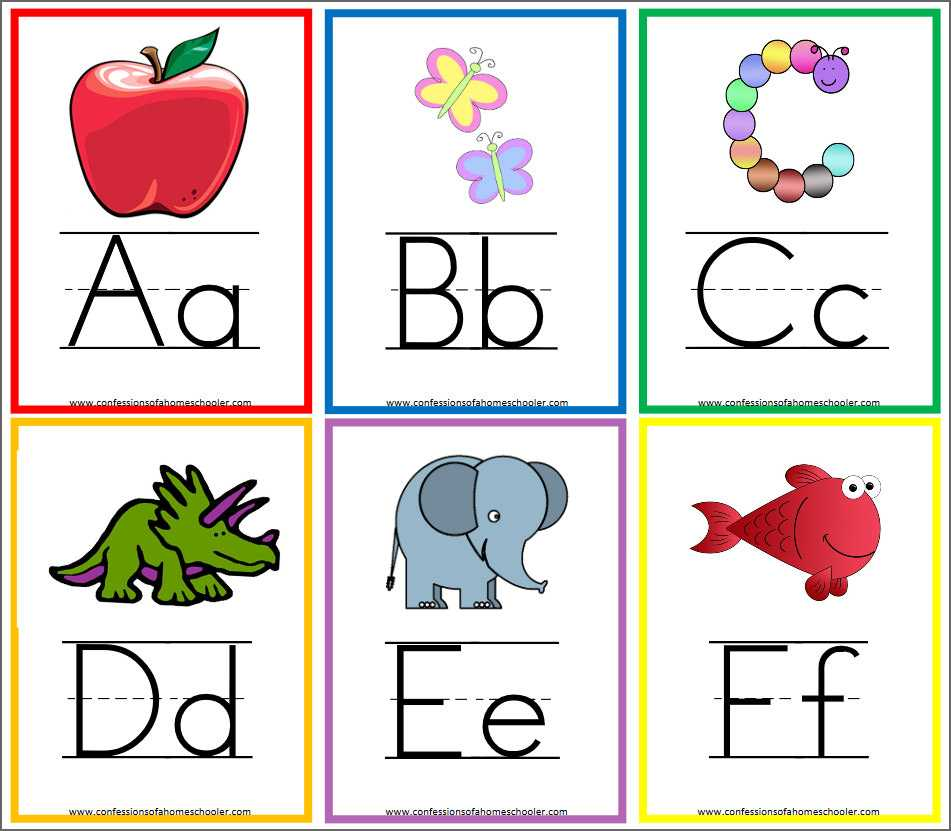 8 Free Printable Educational Alphabet Flashcards For Kids With Regard To Free Printable Flash Cards Template