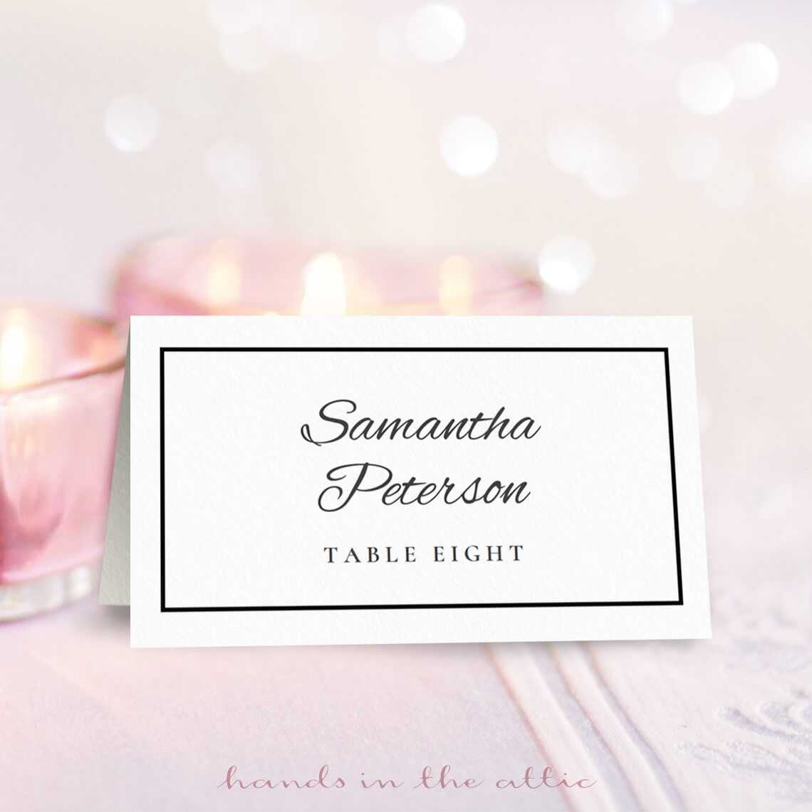 8 Free Wedding Place Card Templates With Table Reservation Card Template