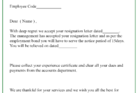 9+ Resignation Acceptance Letter Template [Examples regarding Certificate Of Acceptance Template