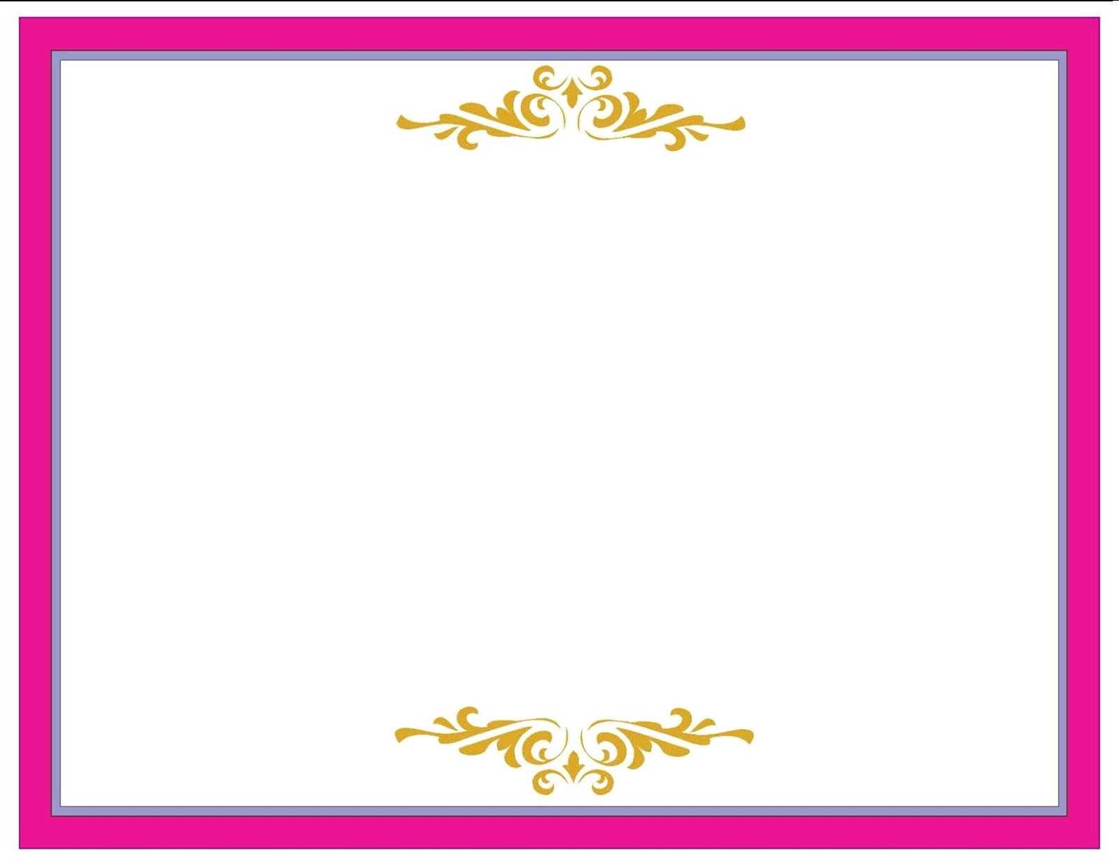 A Collection Of Free Certificate Borders And Templates With Pageant Certificate Template