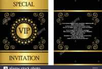 A Golden Vip Invitation Card Template That Can Be Used For with Event Invitation Card Template