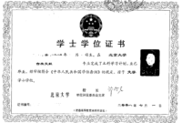 A User's Guide: China's New Non-Standardized Degree Certificate with regard to Doctorate Certificate Template