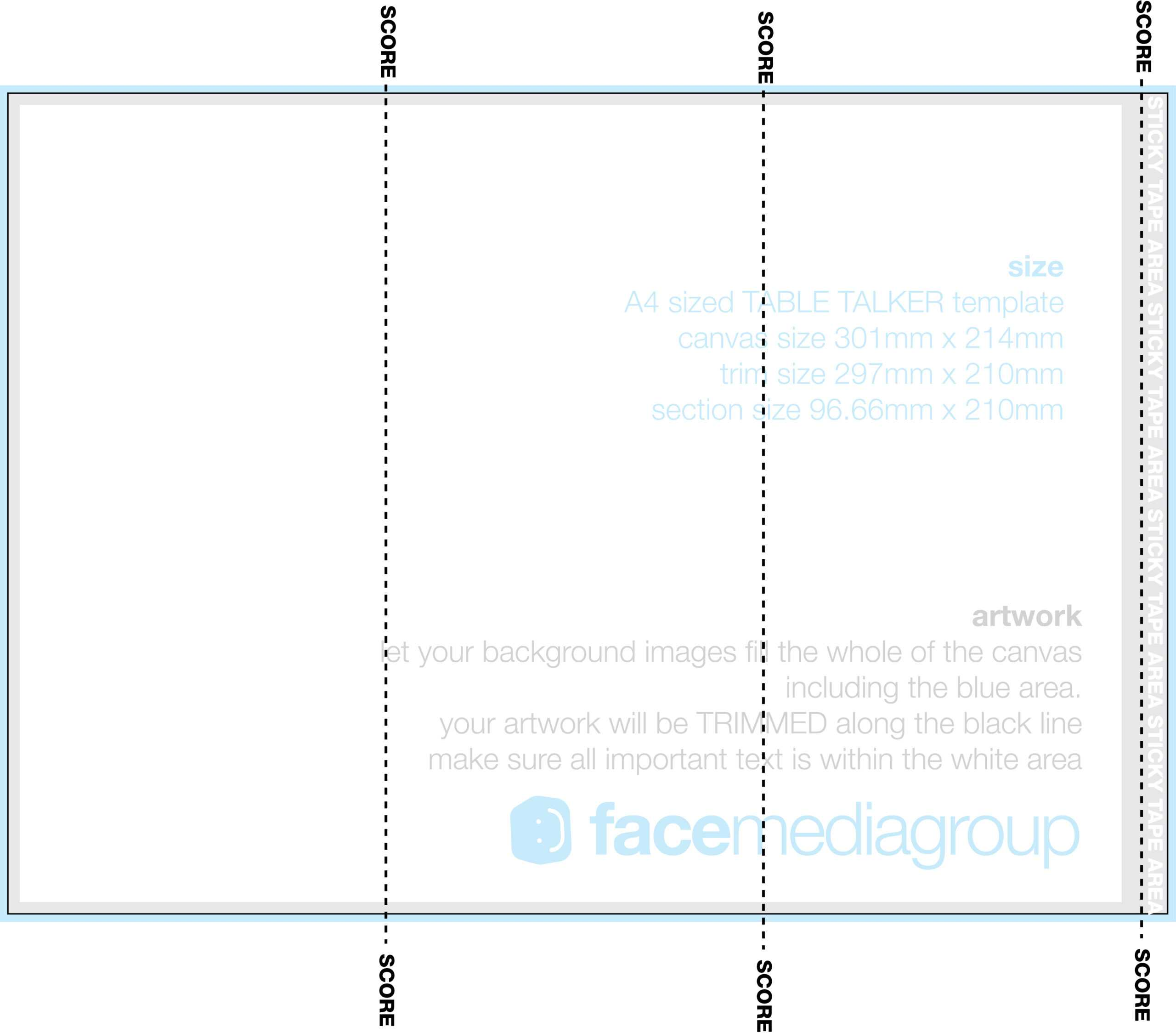 A4 Tri Fold Table Talker Template | Photo Page - Everystockphoto Intended For Tri Fold Tent Card Template