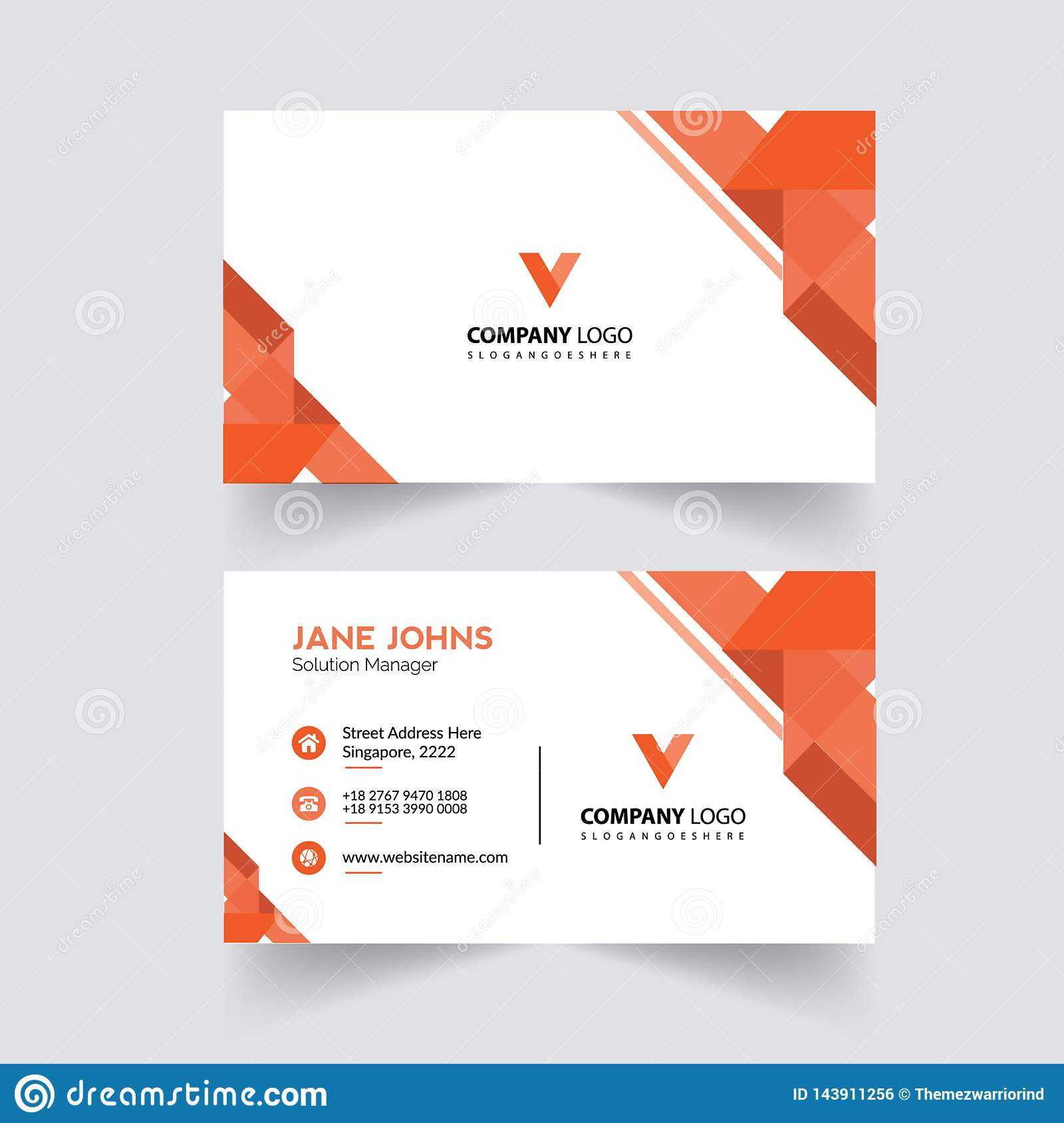 Abstruct Business Card Template Stock Illustration For Adobe Illustrator Business Card Template