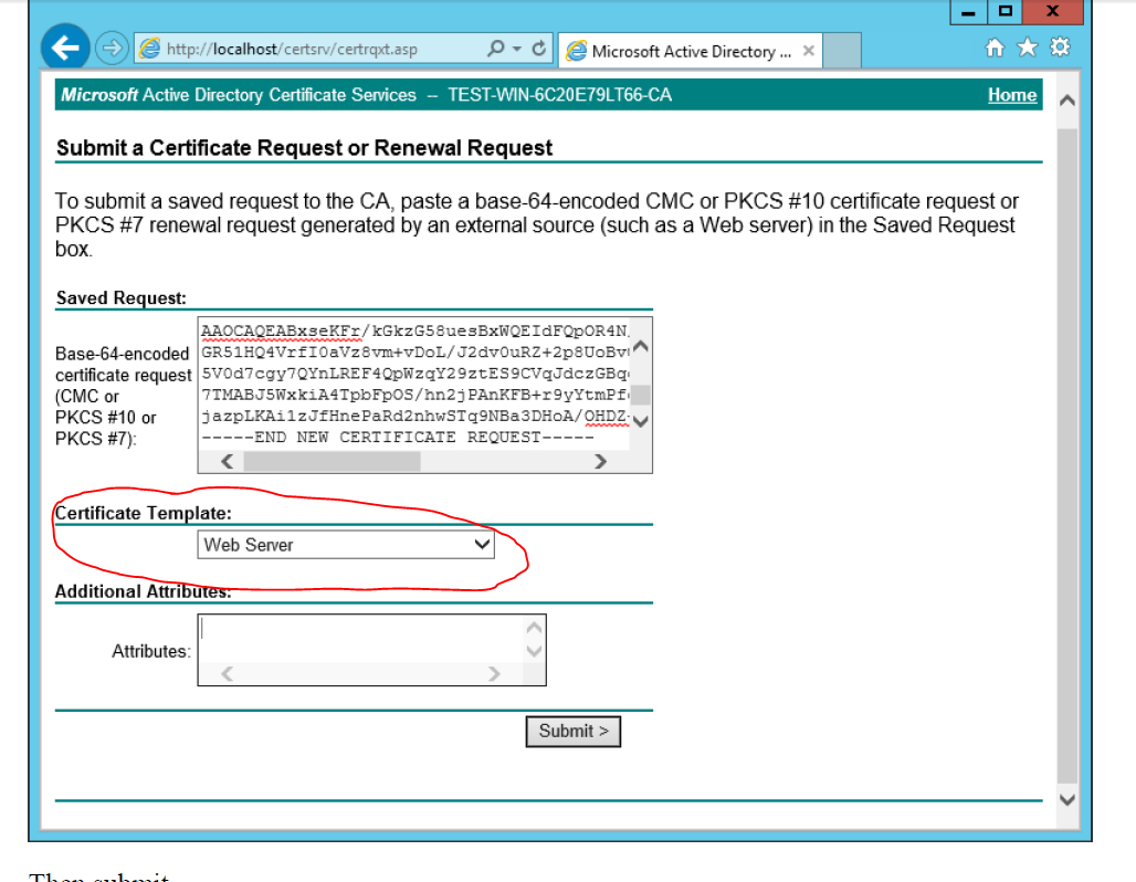 Ad Certificate Services - The Combobox To Select Template Is Pertaining To Active Directory Certificate Templates