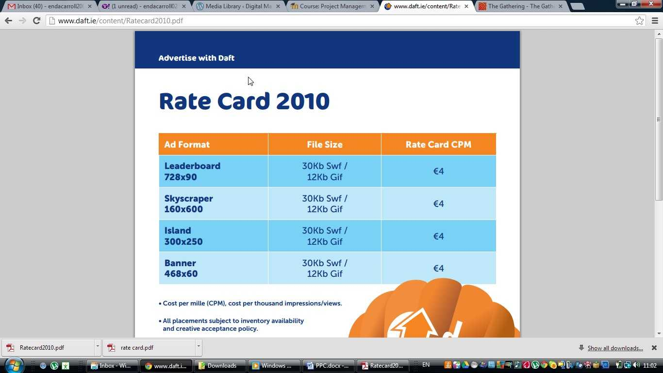 Advertisers | Digital Marketing Blog On Measurement Within Advertising Rate Card Template