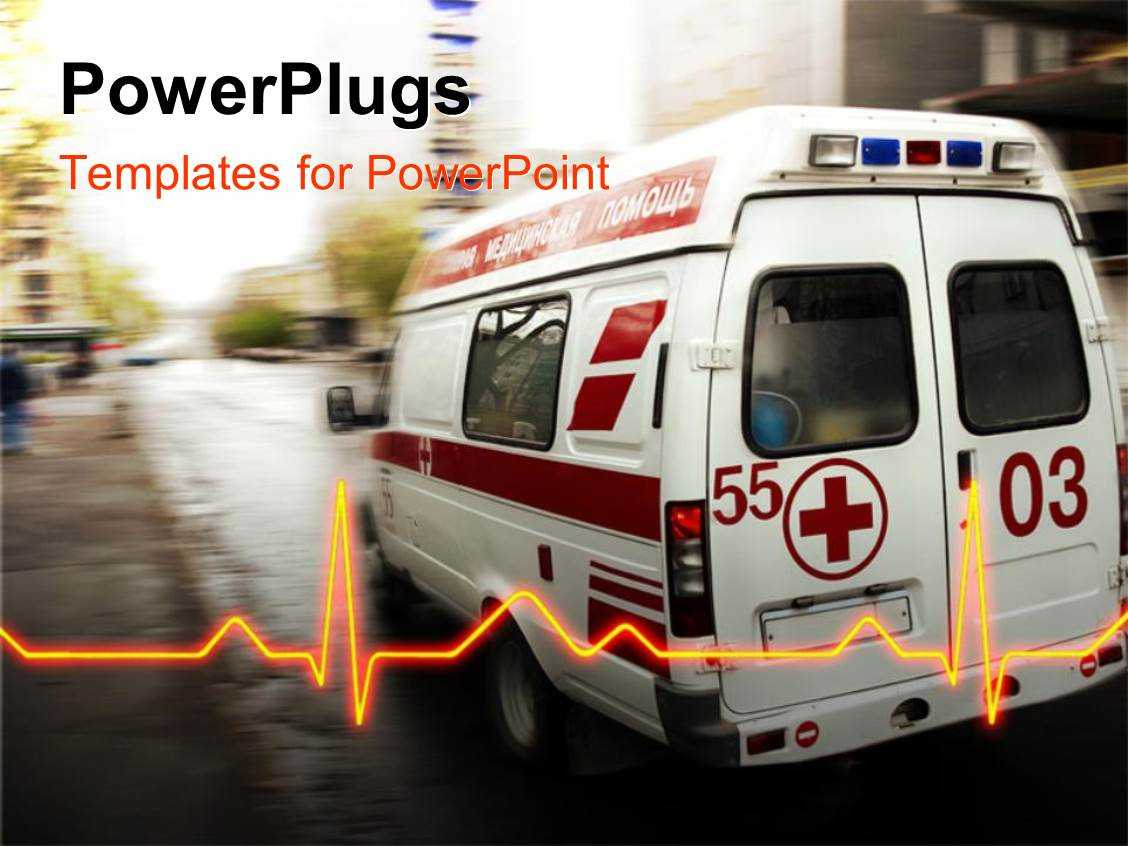 Ambulance Powerpoint Templates W/ Ambulance Themed Backgrounds For Ambulance Powerpoint Template