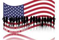 American Business People Powerpoint Templates – Business inside American Flag Powerpoint Template