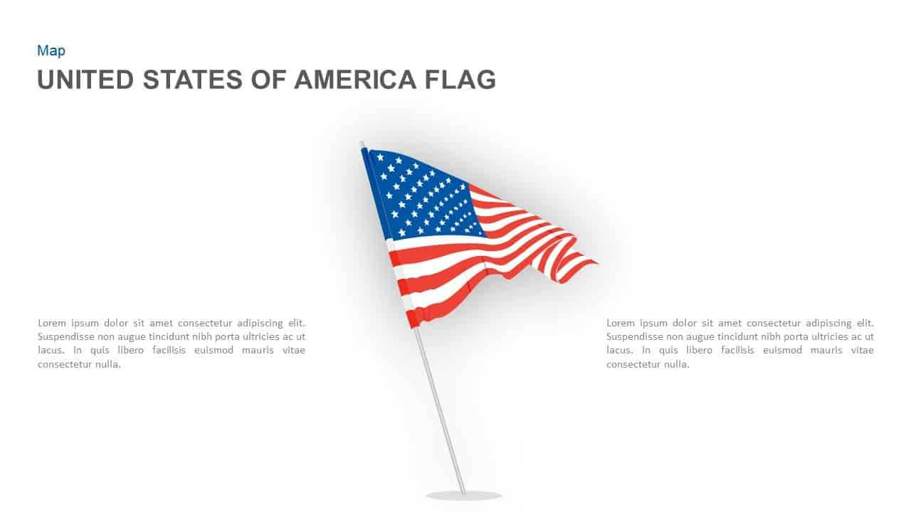 American Flag Powerpoint Template And Keynote Slide For American Flag Powerpoint Template