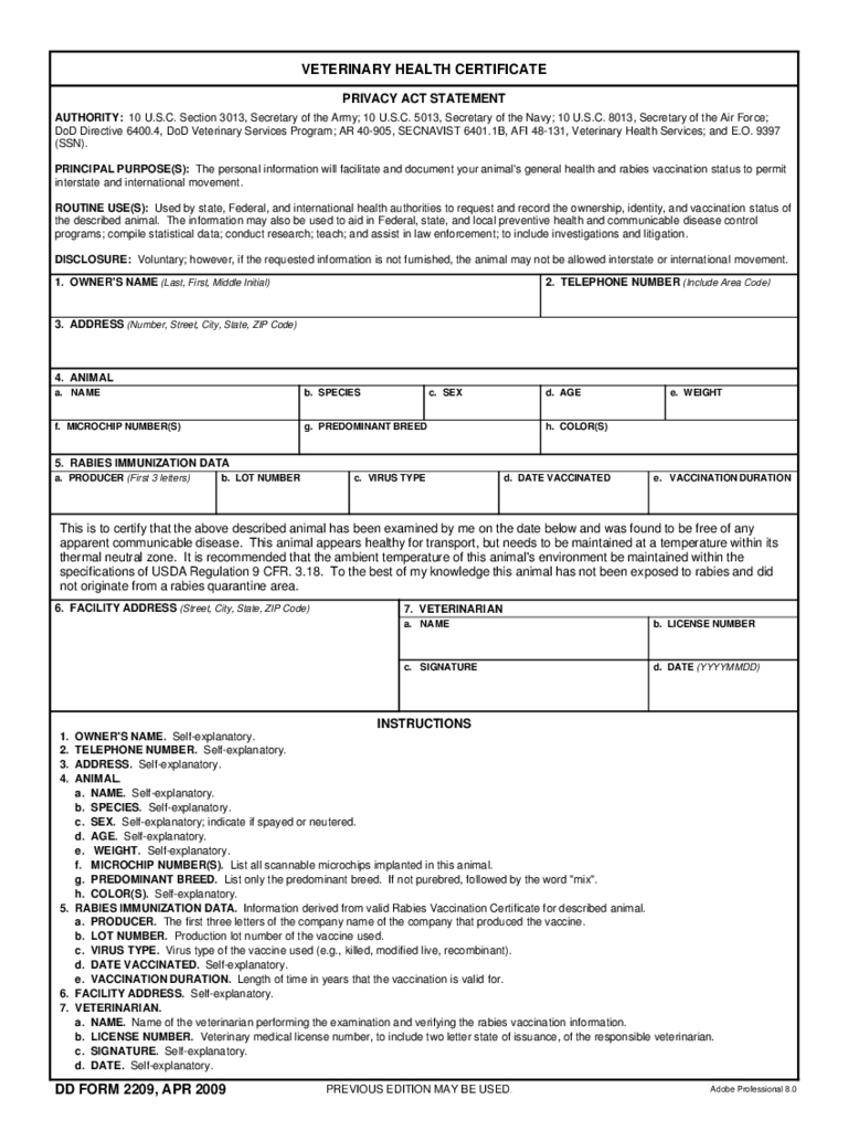 Animal Health Certificate Form – 2 Free Templates In Pdf With Regard To Veterinary Health Certificate Template