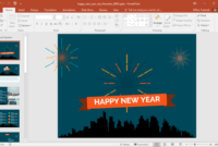 Animated Happy New Year City Fireworks Powerpoint Template for Powerpoint Animated Templates Free Download 2010