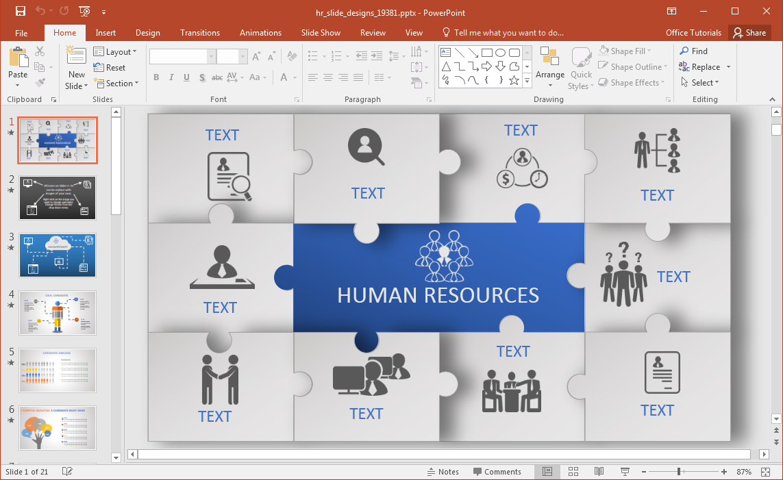 Animated Hr Powerpoint Template Throughout Powerpoint Replace Template