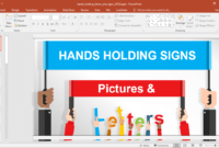 Animated Signboards Powerpoint Template in Powerpoint Replace Template