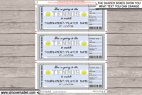 Any Occasion Tennis Gift Tickets inside Tennis Gift Certificate Template