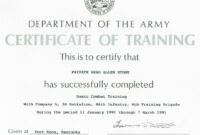 Army Certificate Of Training Template – Mahre with Army Certificate Of Completion Template