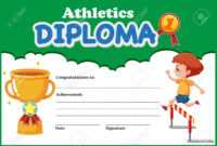 Athletics Diploma Certificate Template Illustration with regard to Sports Day Certificate Templates Free
