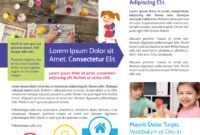 Awesome Daycare Newsletter Template regarding Daycare Brochure Template