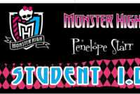 Awesome Monster High Party Games ~ Diy And Printables! inside Monster High Birthday Card Template
