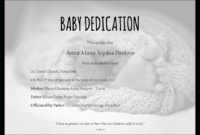 Baby Dedication Certificate Template For Word [Free Printable] in Baby Dedication Certificate Template
