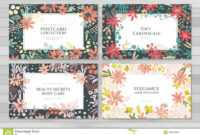 Background Cards Templates Stock Vector. Illustration Of regarding Advertising Cards Templates
