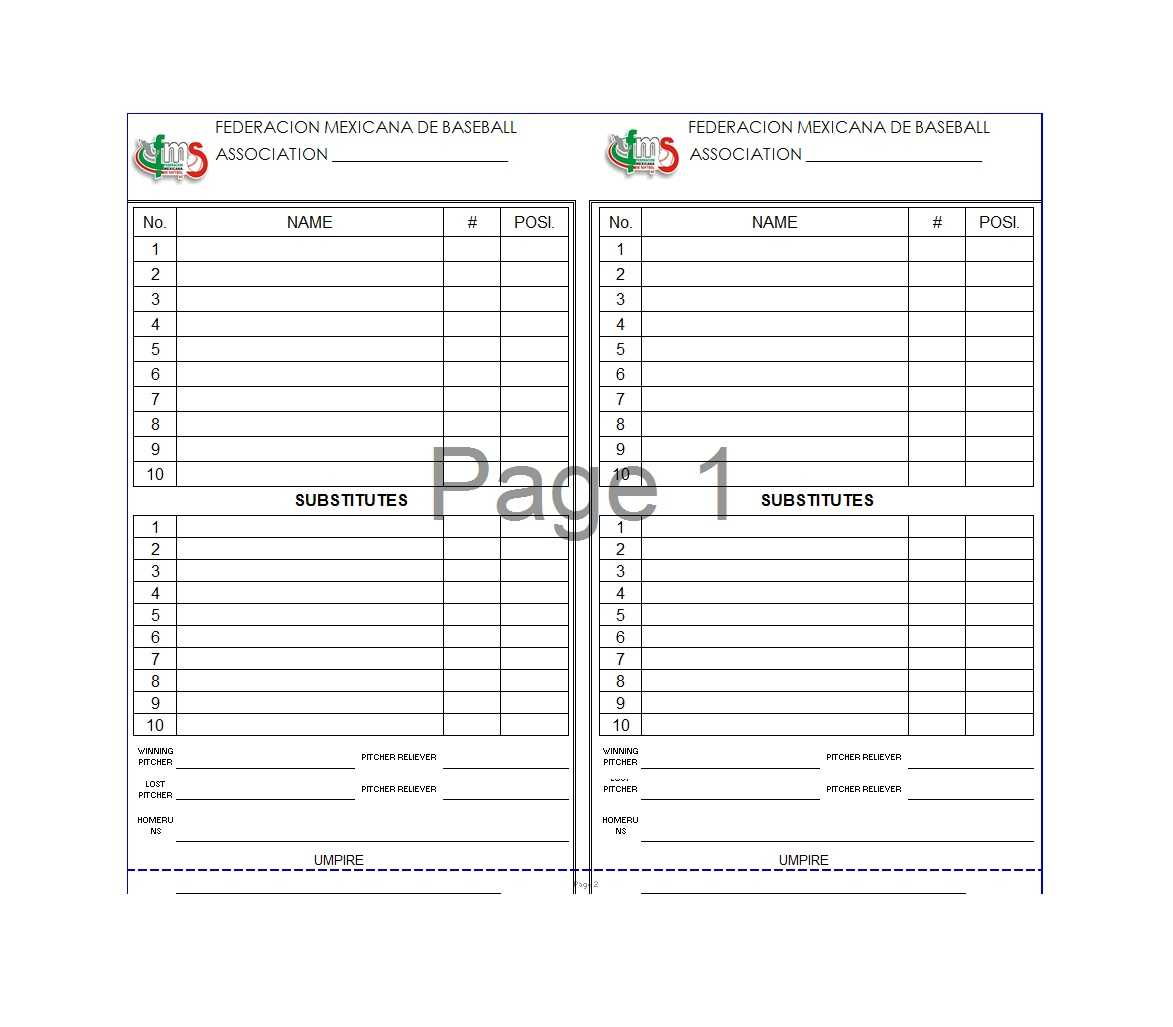 Baseball Lineup Template Free Fielding Card Pdf Printable For Template For Cards In Word