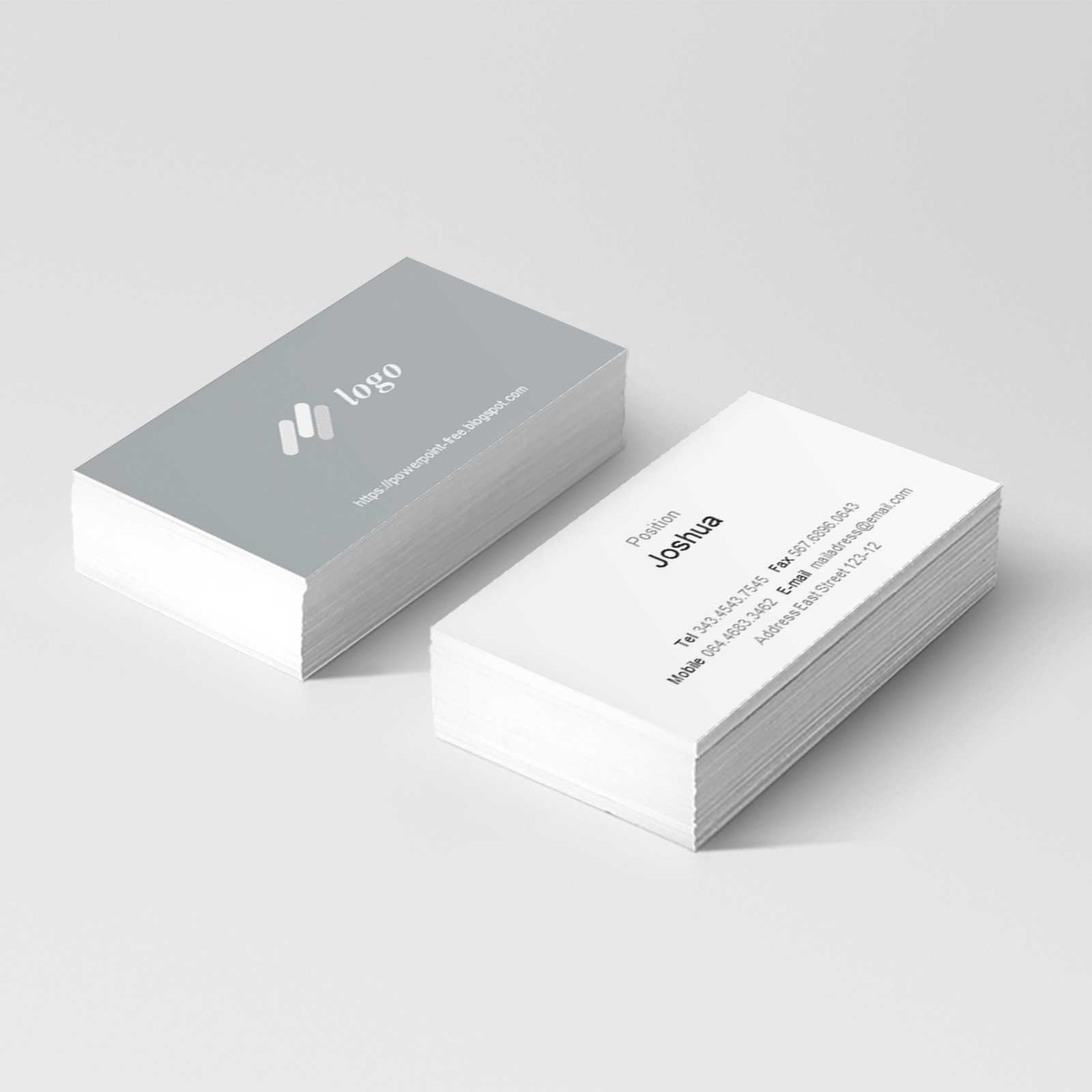 Basic Business Card Powerpoint Templates - Powerpoint Free Intended For Business Card Template Powerpoint Free