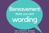 Bereavement Thank You Notes | Lovely Wording Examples intended for Sympathy Thank You Card Template