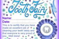 Best Tooth Fairy Certificates Printable | Bates's Website in Free Tooth Fairy Certificate Template