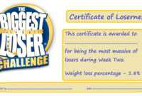 Biggest Loser Certificate Template – Zohre.horizonconsulting.co regarding Gartner Certificate Templates
