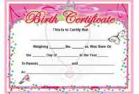 Birth Certificate Template And To Make It Awesome To Read with regard to Girl Birth Certificate Template